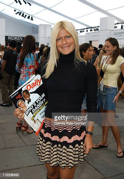 Lizzie Grubman during Olympus Fashion Week Spring 2005 Seen at Bryant Park Day 3 at Bryant Park in New York City New York United States