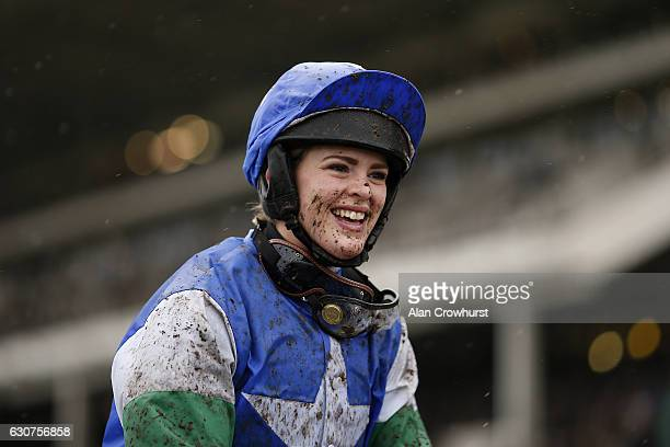 Lizzie Kelly after riding Coo Star Sivola to win The Neptune Investment management Novices' Hurdle Race at Cheltenham Racecourse on January 1, 2017...