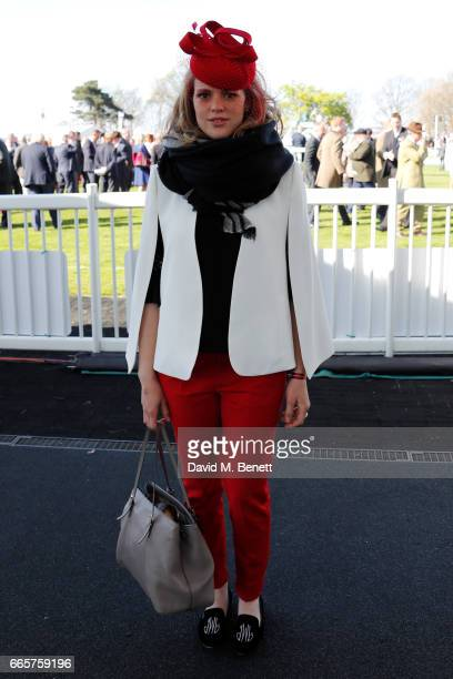 Lizzie Kelly poses on Ladies Day at The 2017 Randox Health Grand National Festival with The Jockey Club at Aintree Racecourse on April 7 2017 in...