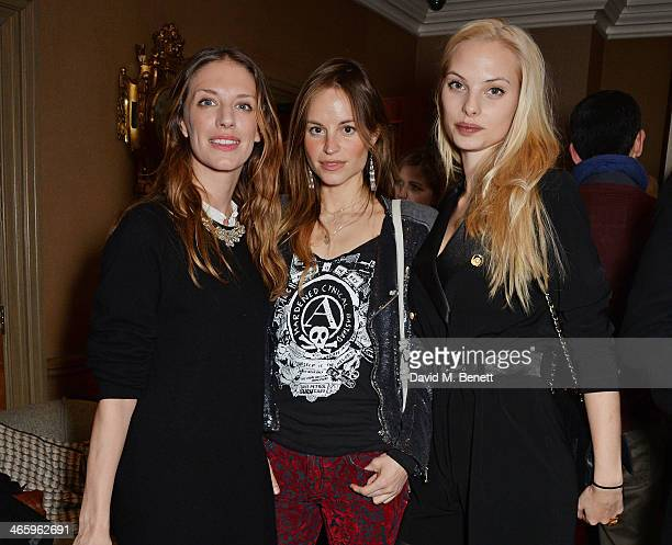 Lizzie Phillips Katrine de Candole and Dioni Tabbers attend a drinks reception and private screening of BAFTA and Oscar nominated film Philomena...