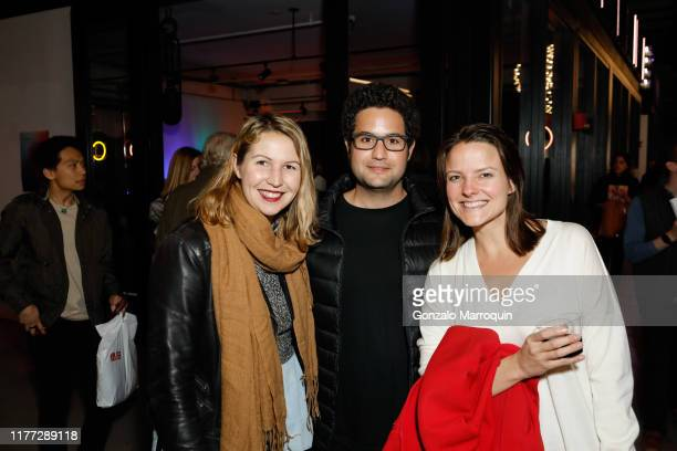Lizzie Redman, Frank Tejera and Katie Beck Sutler attend New Lab Annual Open House Party at New Lab on October 19, 2019 in Brooklyn, NY.