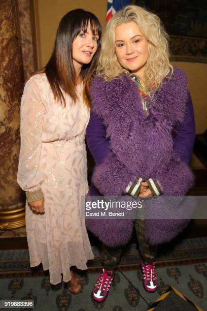 Lizzie Renkert and Jessica Grubisa attend the Opening evening for the Australian Fashion Council's inaugural showroom in London celebrating KitX and...