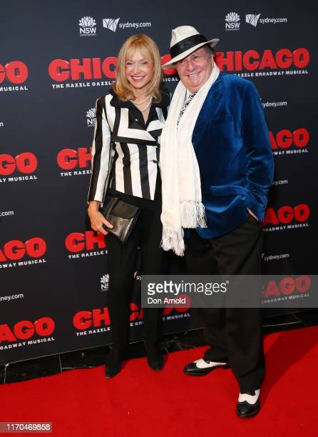 Lizzie Spender and Barry Humphries attend opening night of CHICAGO at Capitol Theatre on August 27 2019 in Sydney Australia