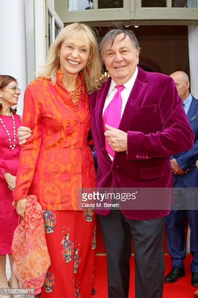 Lizzie Spender and Barry Humphries attend the Reinvented and Reimagined Mandarin Oriental Hyde Park London relaunch party on June 11 2019 in London...