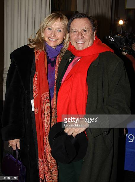 Lizzie Spender and husband Barry Humphries attend the opening of A View From The Bridge on Broadway at the Cort Theatre on January 24 2010 in New...