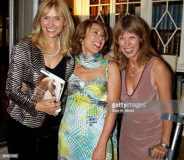 Lizzie Spender Cathy Letts and Netty Mason attend the book launch party for Lizzie Spenders new book Wild Horse Diaries at 15 Albemarle Street on...