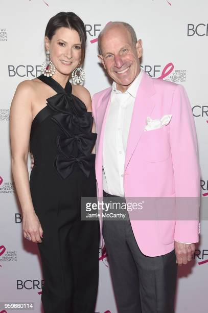 Lizzie Tisch and Jonathan Tisch attend the Breast Cancer Research Foundation Hot Pink Gala hosted by Elizabeth Hurley at Park Avenue Armory on May 17...