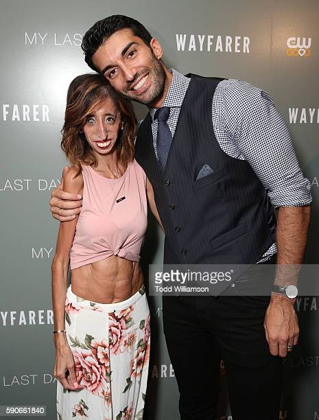 Lizzie Velasquez and Producer Justin Baldoni attend a Screening Of CW's 'My Last Days' at The London Hotel on August 16 2016 in West Hollywood...