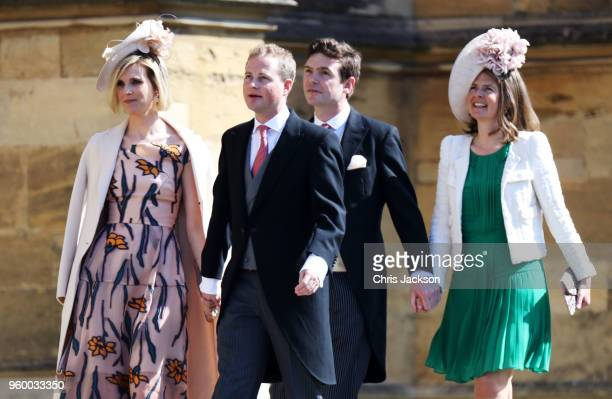 Lizzie Wilson Guy Pelly James Meade and Lady Laura Marsham arrive at the wedding of Prince Harry to Ms Meghan Markle at St George's Chapel Windsor...