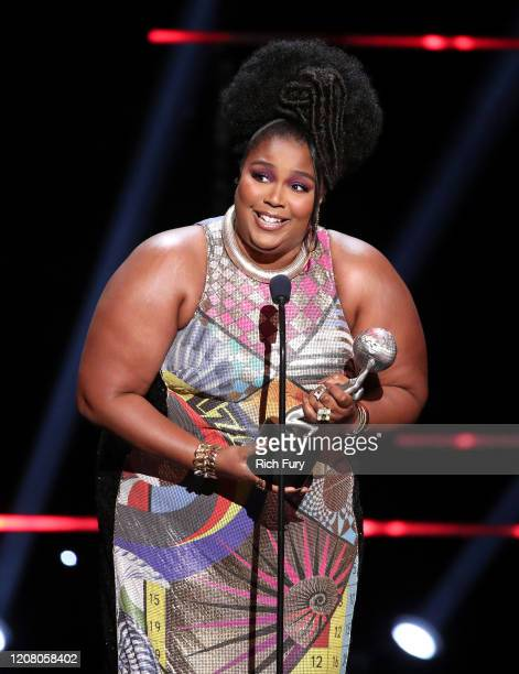 Lizzo accepts Entertainer of the Year onstage during the 51st NAACP Image Awards Presented by BET at Pasadena Civic Auditorium on February 22 2020 in...