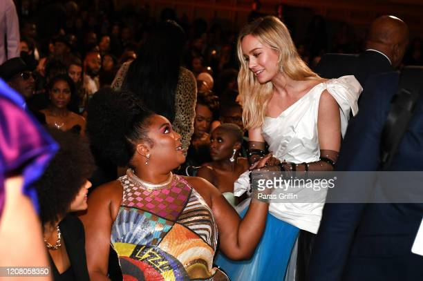 Lizzo and Brie Larson attend the 51st NAACP Image Awards Presented by BET at Pasadena Civic Auditorium on February 22 2020 in Pasadena California