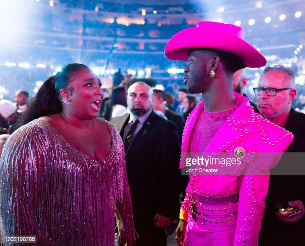 Lizzo and Lil Nas X attend the 62nd Annual GRAMMY Awards on January 26 2020 in Los Angeles California