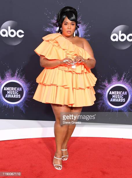 Lizzo arrives at the 2019 American Music Awards at Microsoft Theater on November 24 2019 in Los Angeles California