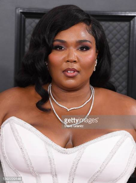 Lizzo arrives at the 62nd Annual GRAMMY Awards at Staples Center on January 26 2020 in Los Angeles California