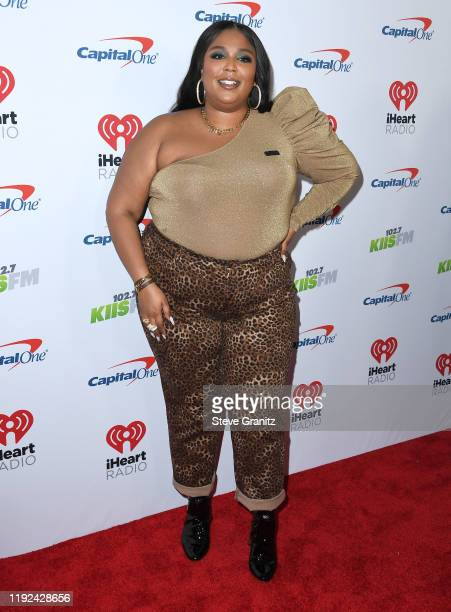 Lizzo arrives at the KIIS FM's Jingle Ball 2019 Presented By Capital One At The Forum at The Forum on December 06, 2019 in Inglewood, California.