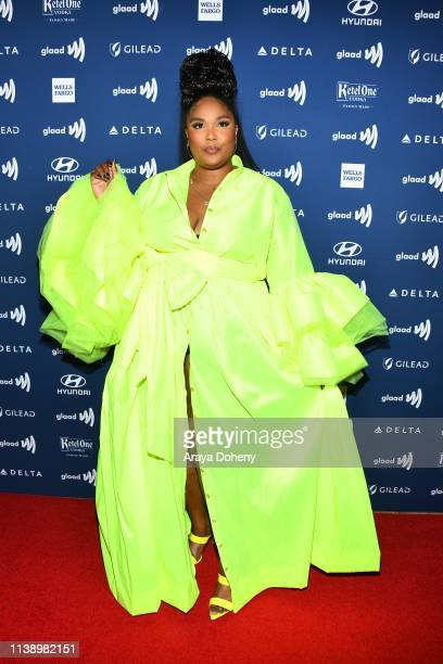 Lizzo at the 30th Annual GLAAD Media Awards at The Beverly Hilton Hotel on March 28 2019 in Beverly Hills California