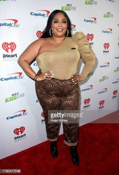 Lizzo attends 1027 KIIS FM's Jingle Ball 2019 Presented by Capital One at the Forum on December 6 2019 in Los Angeles California