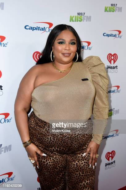 Lizzo attends 102.7 KIIS FM's Jingle Ball 2019 Presented by Capital One at the Forum on December 6, 2019 in Los Angeles, California.