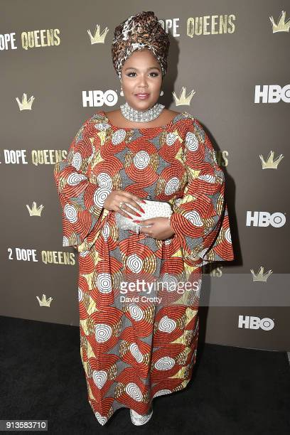 Lizzo attends HBO's '2 Dope Queens' Los Angeles Slumber Party Premiere at NeueHouse Hollywood on February 2 2018 in Los Angeles California