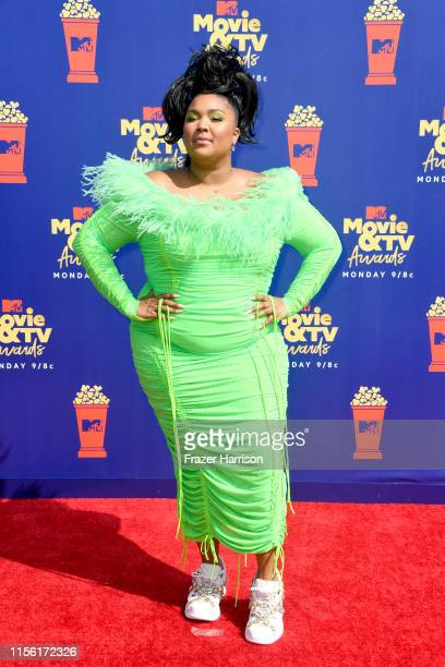 Lizzo attends the 2019 MTV Movie and TV Awards at Barker Hangar on June 15 2019 in Santa Monica California