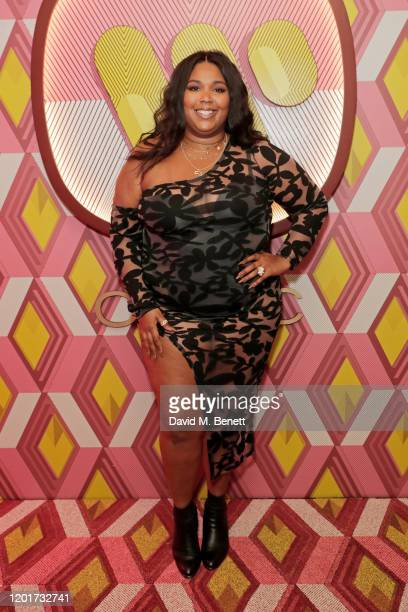 Lizzo attends the Warner Music & CIROC BRIT Awards house party, in association with GQ, at The Chiltern Firehouse on February 18, 2020 in London,...