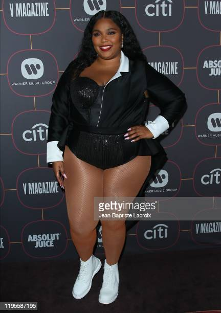 Lizzo attends the Warner Music Group PreGrammy Party at Hollywood Athletic Club on January 23 2020 in Hollywood California