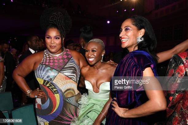 Lizzo Cynthia Erivo and Tracee Ellis Ross attend the 51st NAACP Image Awards Presented by BET at Pasadena Civic Auditorium on February 22 2020 in...