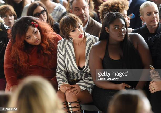 Lizzo Jackie Cruz and Danielle Brooks attend the Christian Siriano fashion show during New York Fashion Week The Shows at Pier 59 on September 9 2017...