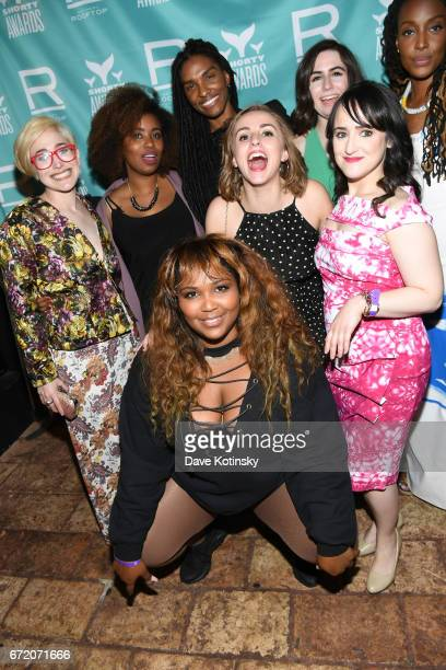 Lizzo Mara Wilson Akilah Hughes and guests attend the The 9th Annual Shorty Awards After Party at the Refinery Rooftop on April 23 2017 in New York...