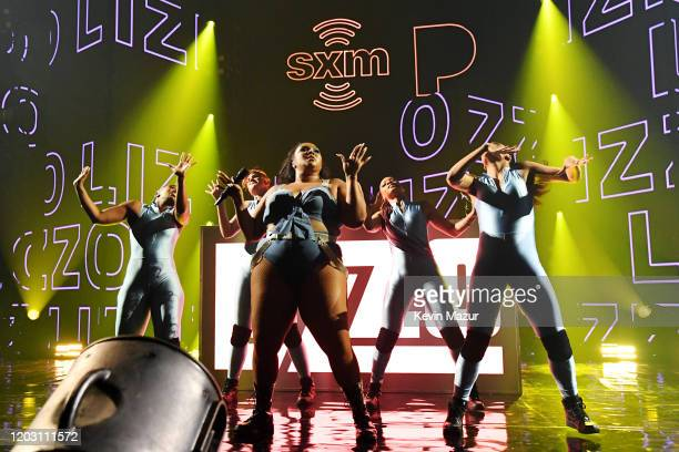Lizzo performs an exclusive concert for the SiriusXM and Pandora Opening Drive Super Concert Series, airing live on SiriusXM's The Heat channel, at...