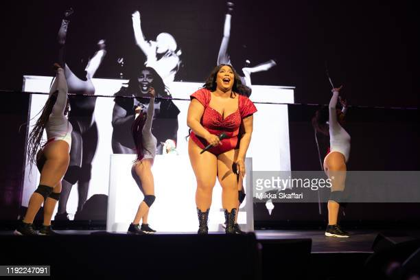 Lizzo performs at 2019 99.7 NOW! Poptopia at SAP Center on December 05, 2019 in San Jose, California.