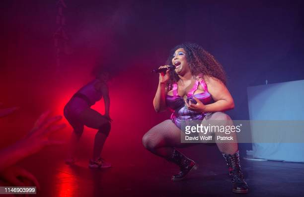 Lizzo performs at L'Alhambra on May 30 2019 in Paris France