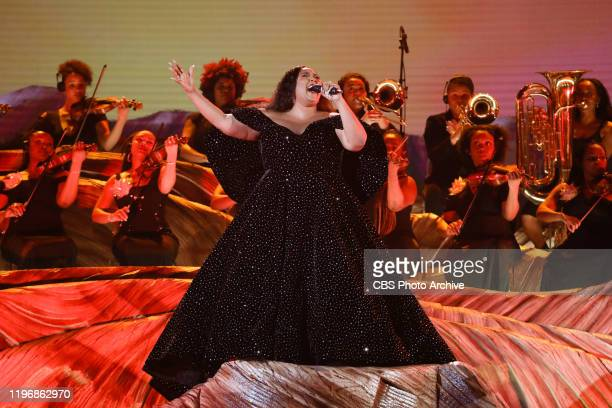 Lizzo performs at THE 62ND ANNUAL GRAMMY® AWARDS broadcast live from the STAPLES Center in Los Angeles Sunday January 26 2020 on the CBS Television...