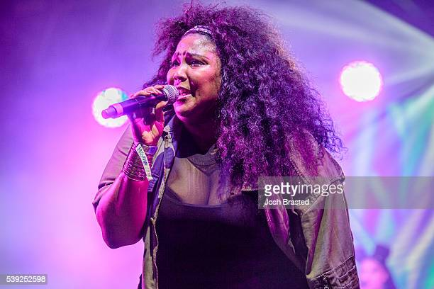 Lizzo performs at the Bonnaroo Music & Arts Festival on June 9, 2016 in Manchester, Tennessee.