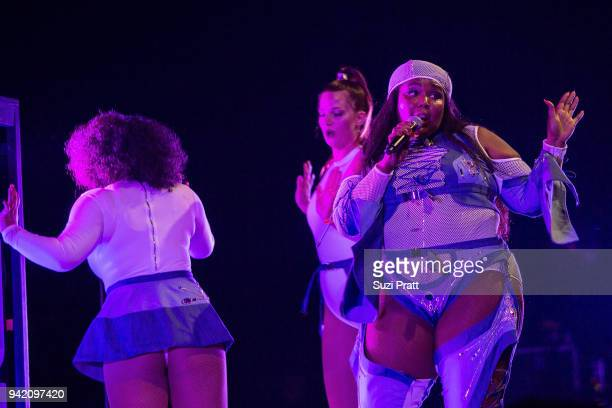 Lizzo performs at WaMu Theater on April 4, 2018 in Seattle, Washington.
