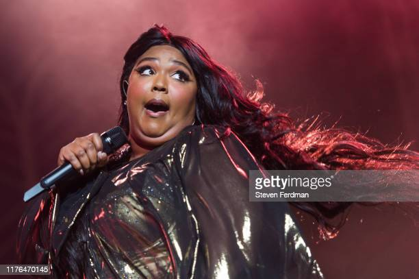 Lizzo performs during her 'Cuz I Love You Too Tour' at Radio City Music Hall on September 22 2019 in New York City