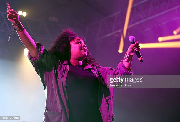 Lizzo performs during the Bonnaroo Music + Arts Festival on June 9, 2016 in Manchester, Tennessee.