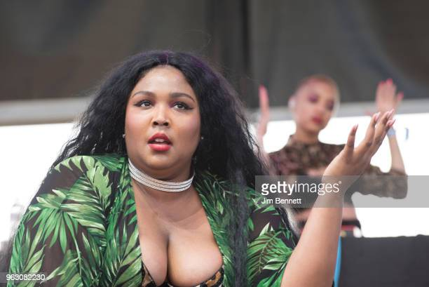 Lizzo performs live on stage at Gorge Amphitheatre on May 26 2018 in George Washington