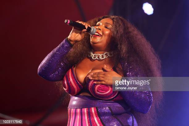Lizzo performs live on stage during day two of Reading Festival at Richfield Avenue on August 25 2018 in Reading England