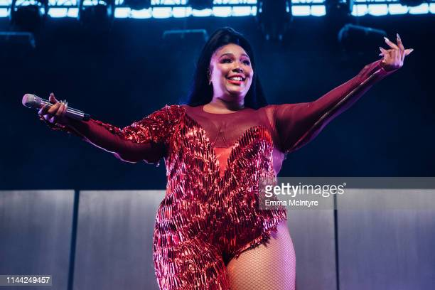 Lizzo performs onstage at the 2019 Coachella Valley Music and Arts Festival on April 21 2019 in Indio California