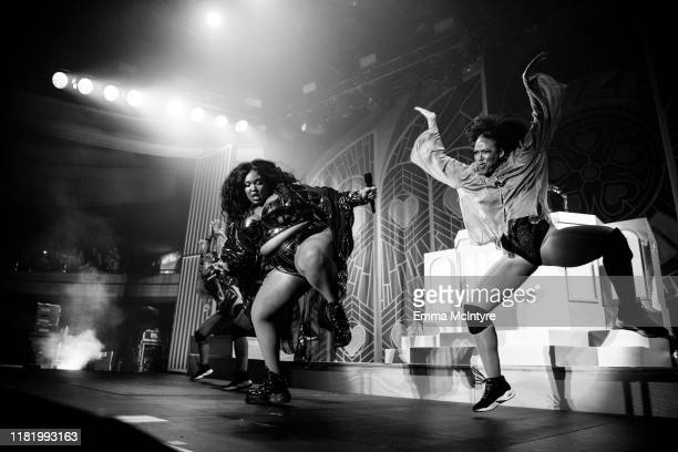 Lizzo performs onstage at the Hollywood Palladium on October 18, 2019 in Los Angeles, California.