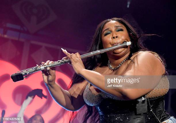 Lizzo performs onstage during 1027 KIIS FM's Jingle Ball 2019 Presented by Capital One at the Forum on December 6 2019 in Los Angeles California