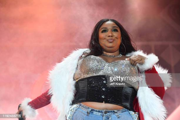 Lizzo performs onstage during 102.7 KIIS FM's Jingle Ball 2019 Presented by Capital One at the Forum on December 6, 2019 in Los Angeles, California.