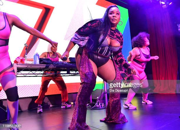 Lizzo performs onstage during American Express' NYC Pride Kickoff Event on June 26 2019 in New York City