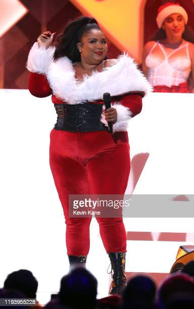 Lizzo performs onstage during iHeartRadio's Z100 Jingle Ball 2019 at Madison Square Garden on December 13, 2019 in New York City.