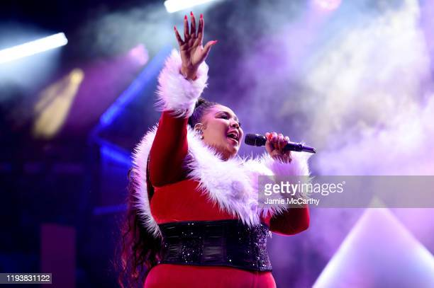 Lizzo performs onstage during iHeartRadio's Z100 Jingle Ball 2019 Presented By Capital One on December 13 2019 in New York City