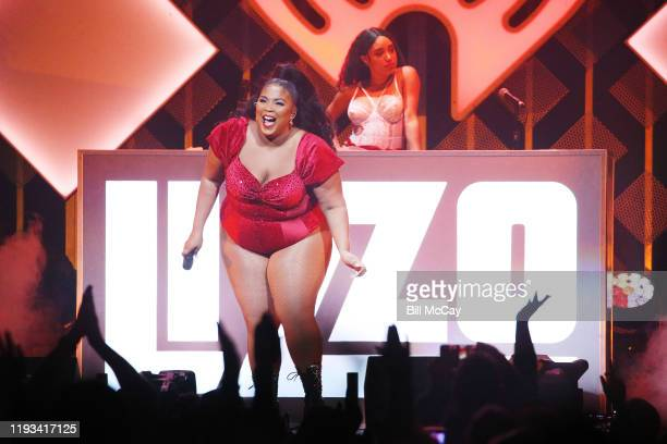 Lizzo performs onstage during Q102's Jingle Ball 2019 Presented by Capital One at Wells Fargo Center on December 11 2019 in Philadelphia Pennsylvania