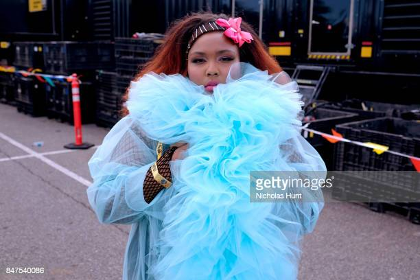 Lizzo performs onstage during the Meadows Music And Arts Festival Day 1 at Citi Field on September 15 2017 in New York City