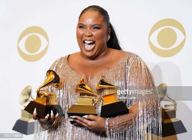Lizzo winner of Best Pop Solo Performance Best Traditional RB Performance and Best Urban Contemporary Album poses in the press room during the 62nd...