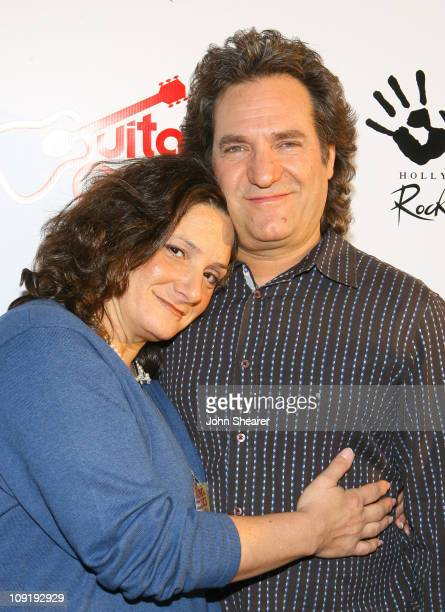 Lizzy Brassler and Joey Brassler during Guitar Center's King of The Blues at Music Box Fonda Theater in Hollywood California United States